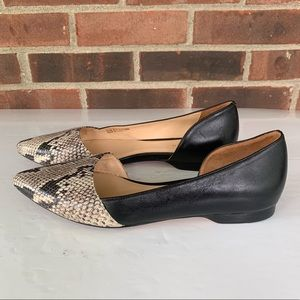Cole Haan snake print color block flat